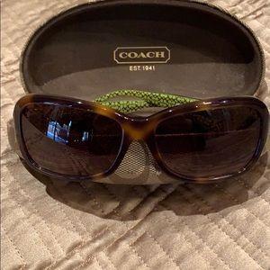 "Coach Tortoise ""Ciara"" Sunglasses and case"